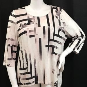 Chico's 3 abstract print top